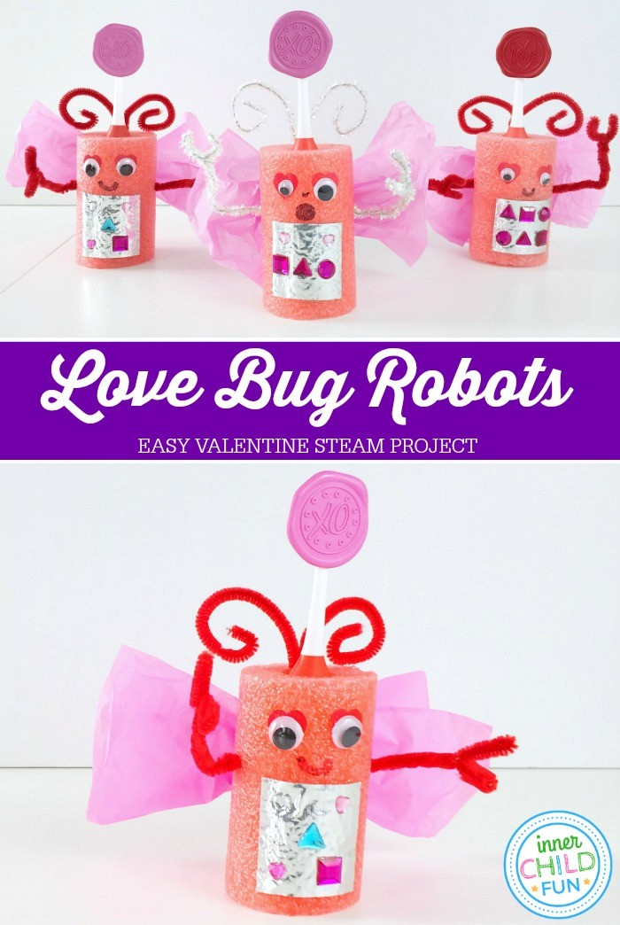 Valentine STEAM Project - EASY Love Bug Robots