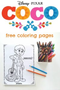 Free Disney Pixar's COCO Coloring Pages