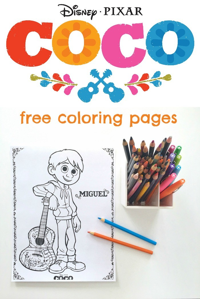 Free Disney Pixars COCO Coloring Pages