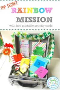 Top Secret Rainbow Mission Activity Cards