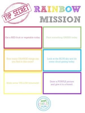 Top Secret Rainbow Mission Activity Cards
