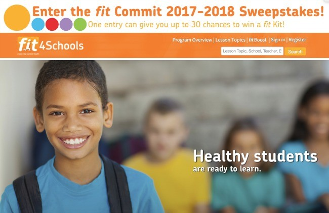 fit4Schools Website Screenshot