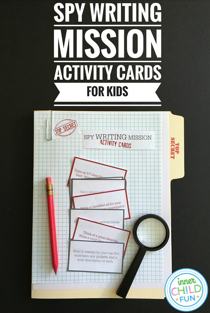 Top Secret Spy Writing Mission Activity Cards