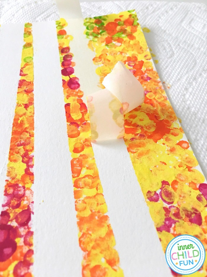 Fall Art Project for Kids - masking tape