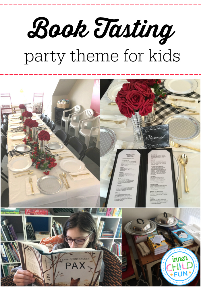 Book Tasting Party Theme for Kids