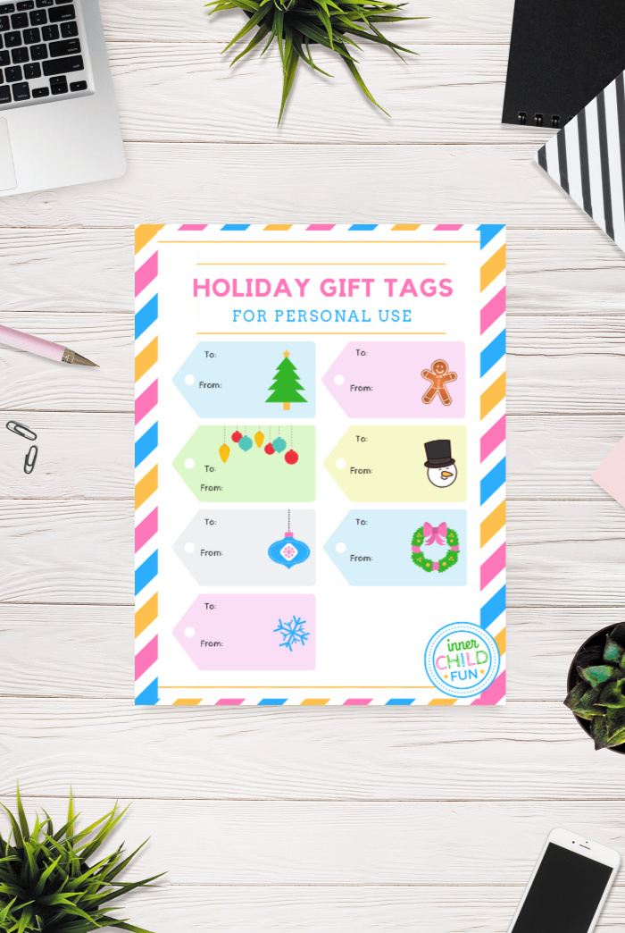 picture about Christmas Tag Free Printable named Xmas Present Tags Totally free Printable - Inside Baby Enjoyable