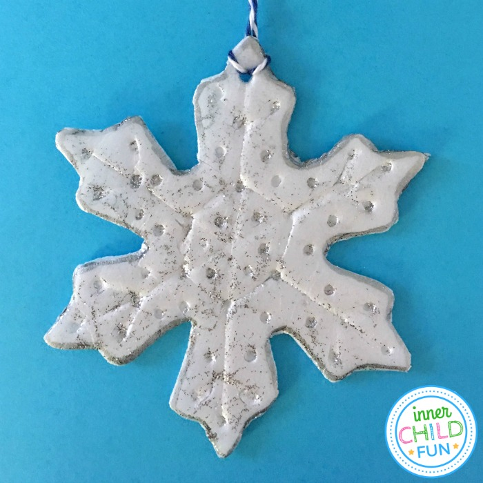 Embossed Snowflake Ornaments Easy Craft for Kids