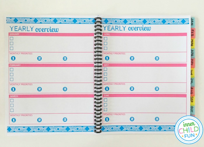 Printable Planner Pages 2019 Free Download - Inner Child Fun