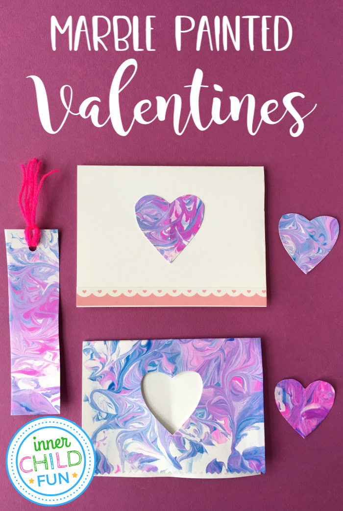 Marble Painted Valentines - Gift Kids Can Make