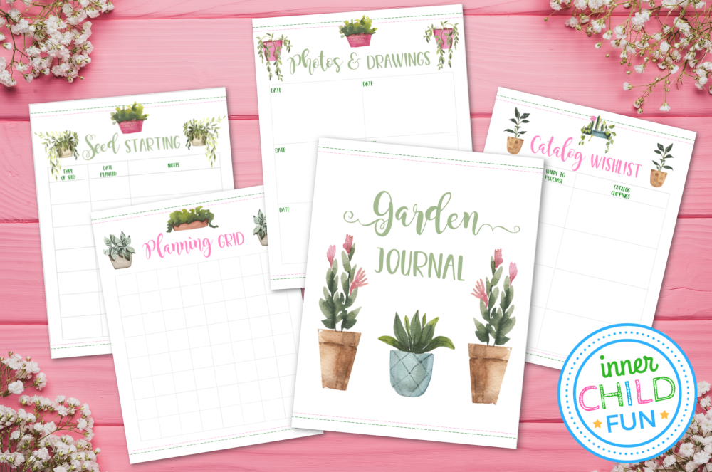 photo relating to Printable Garden Journal called Backyard garden Magazine Planner Webpages - Printable - Internal Youngster Entertaining