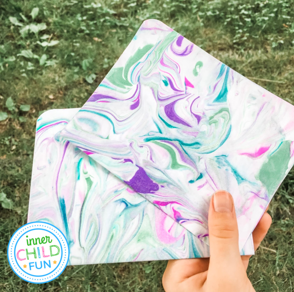 Easy Paper Marbling with The Artful Parent