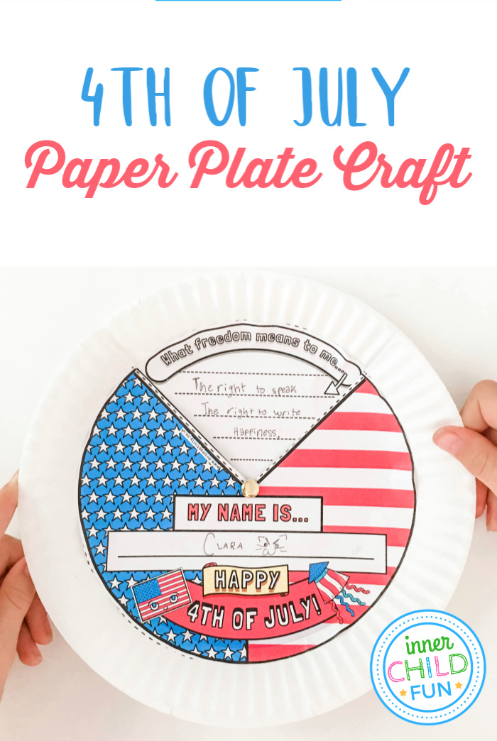 4th of July Paper Plate Craft
