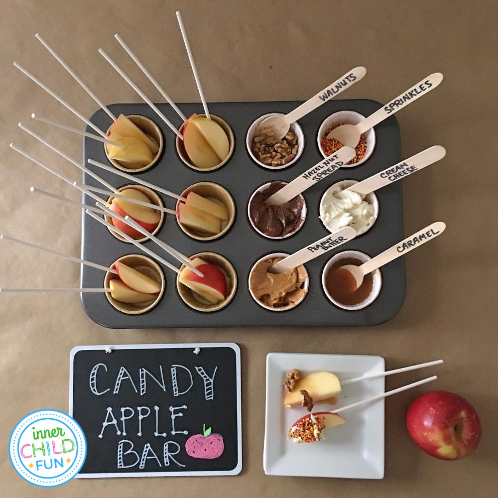 Candy Apple Bar - an easy DIY party treat