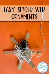 Easy Spider Web Ornaments Kids Can Make