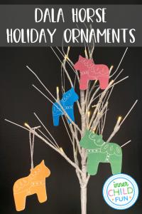 Dala Horse Ornaments - with free printable