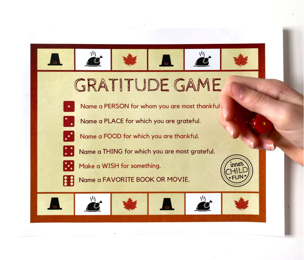 Gratitude Game for Kids (Printable)