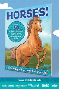 Horses! Coloring and Activity Book for Kids