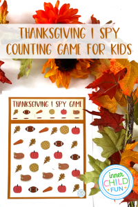 I Spy Thanksgiving Counting Game for Kids