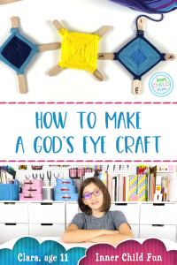 How to make a God's eye craft with 2 sticks