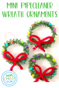 Mini Pipecleaner Wreath Ornaments