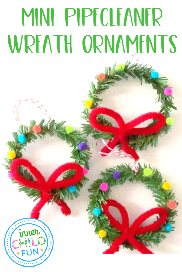 EASY Christmas Ornament - Mini Pipecleaner Wreaths