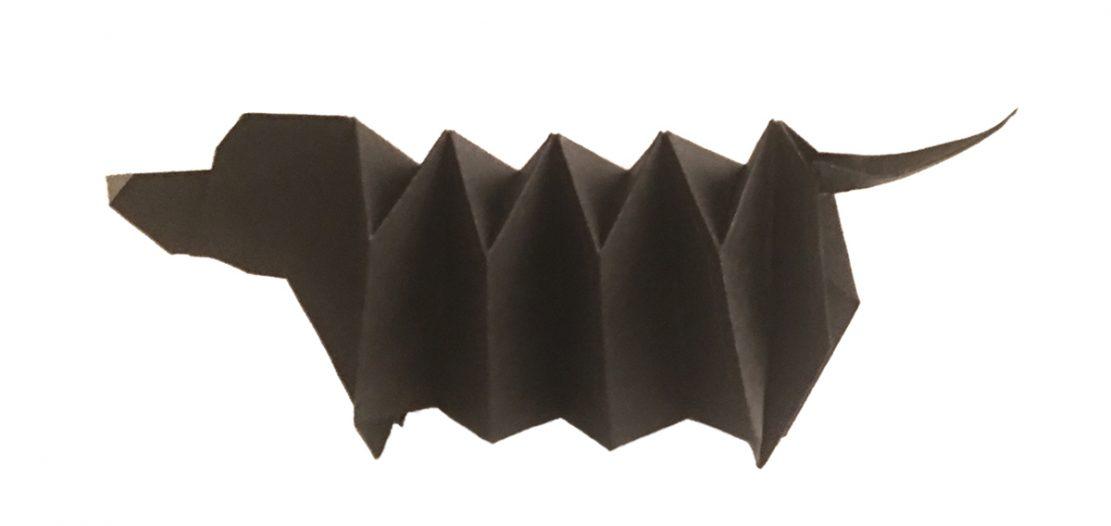 Expandable Origami Dachshund