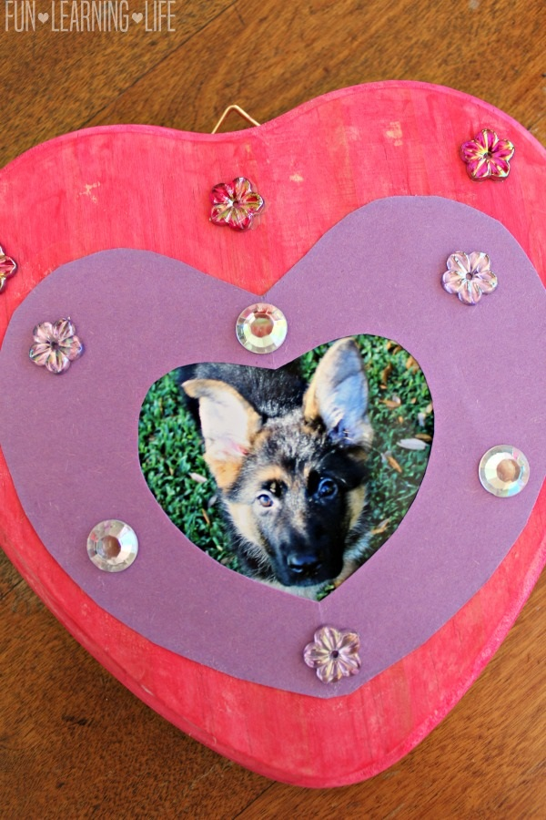 Dog Crafts for Kids - Puppy Frame Craft