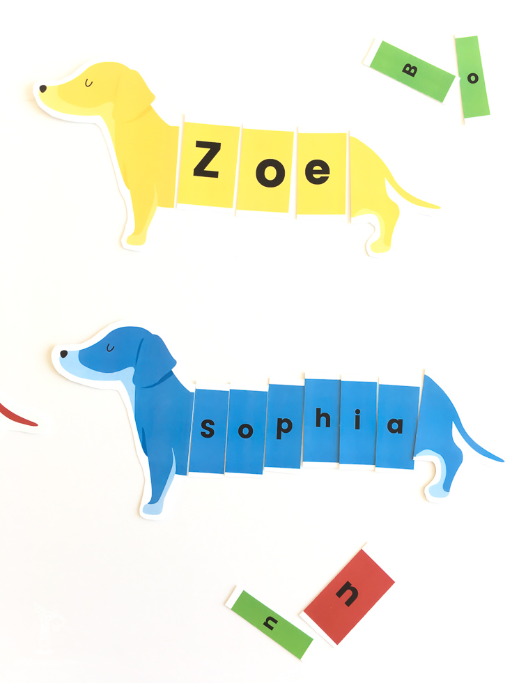 Dog Puzzle Name Activity