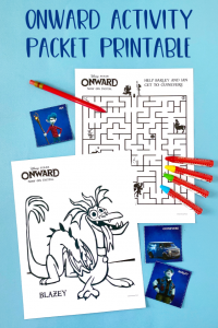 Disney and Pixar's Onward Activity Packet Printable
