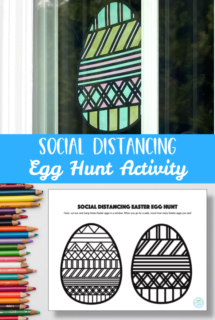 Social Distancing Egg Hunt Easter Activity