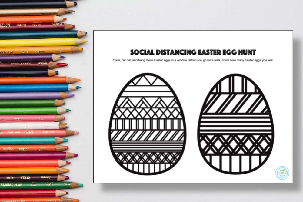Social Distancing Easter Egg Hunt - free printable