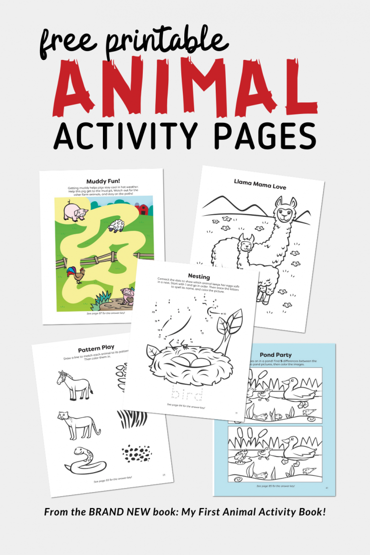 Free Printable Animal Activity Pages