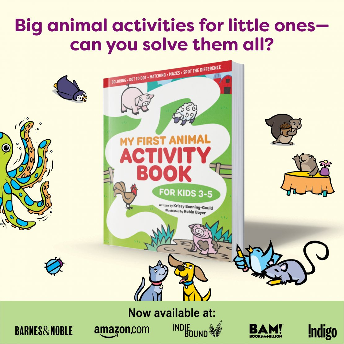 My First Animal Activity Book for Kids 3-5 by Krissy Bonning-Gould