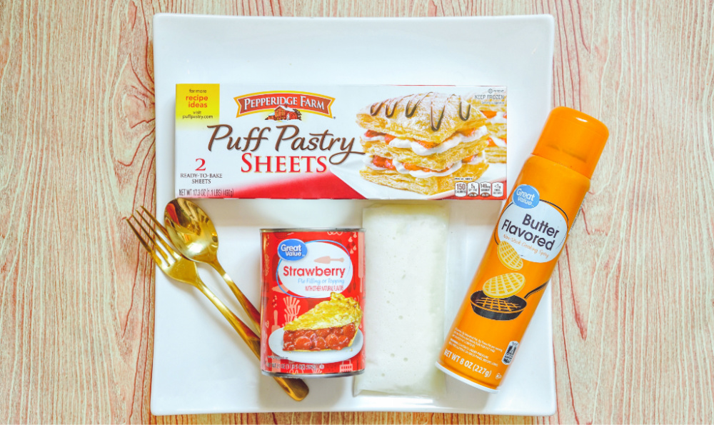 Strawberry Turnover Treats - Ingredients Needed