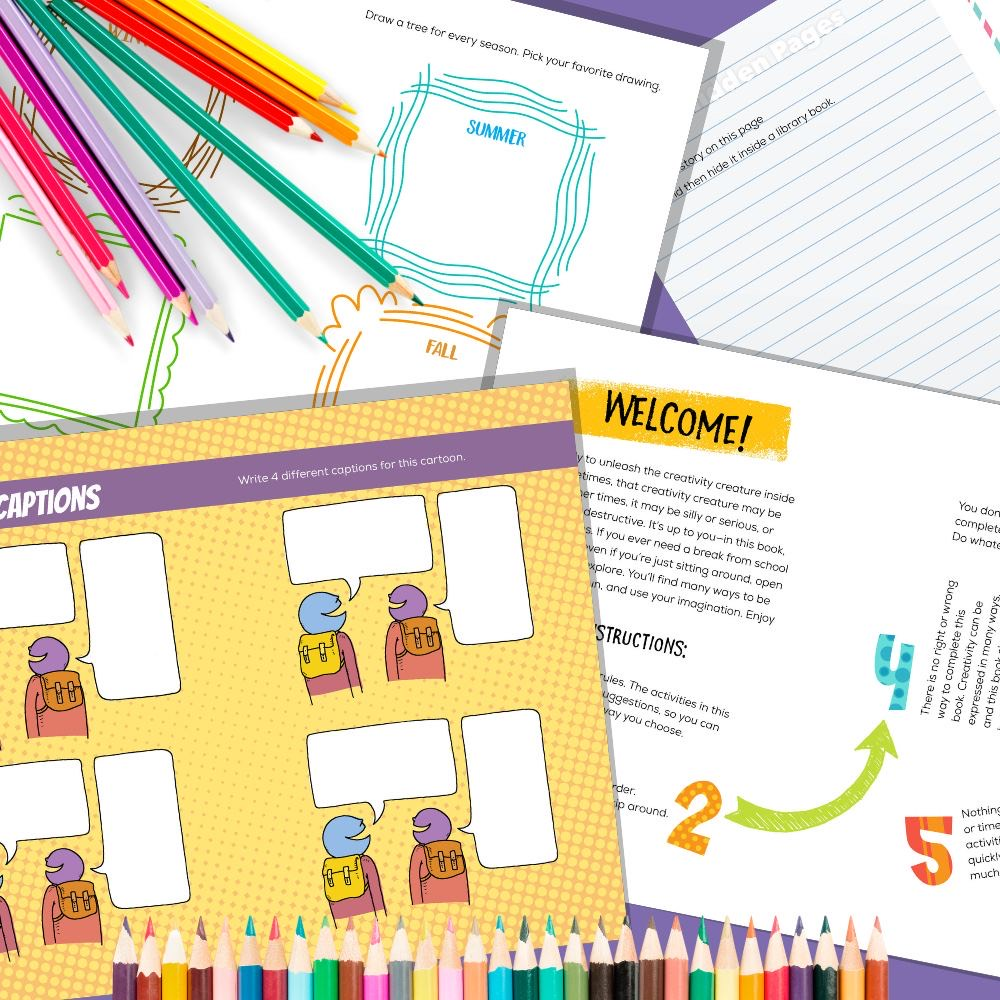 Free Printable Activity Packet - Creativity Journal Pages